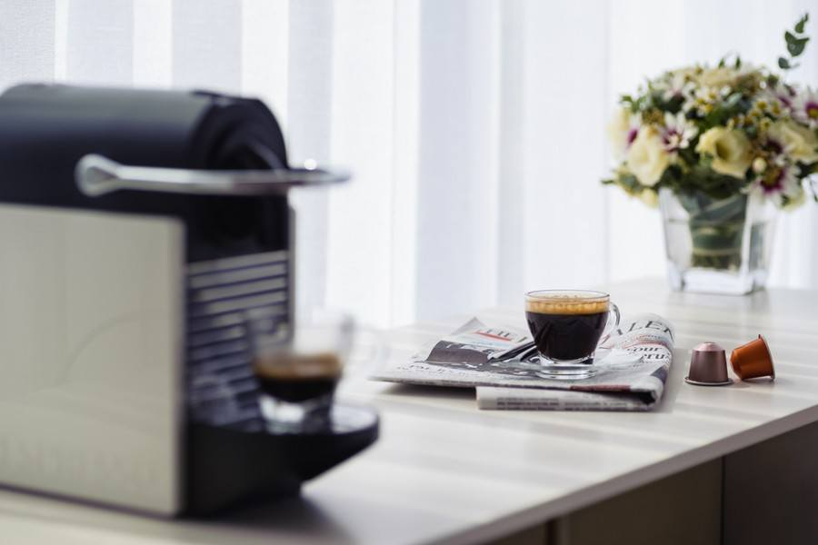 In-room espresso machine
