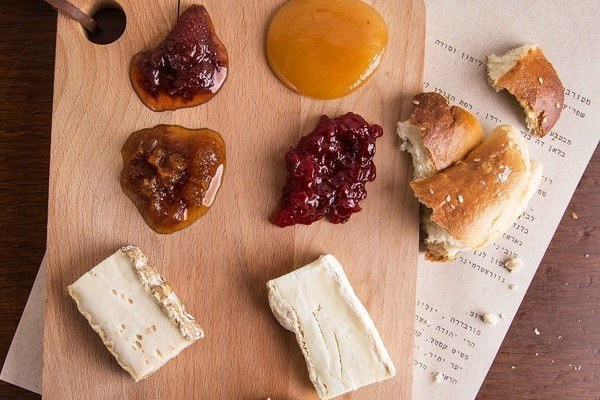 Wonderful cheeses and spreads